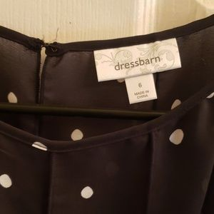 Dress Barn Dresses - Dressbarn Dress Shell Size 6 Black w/ White Dots